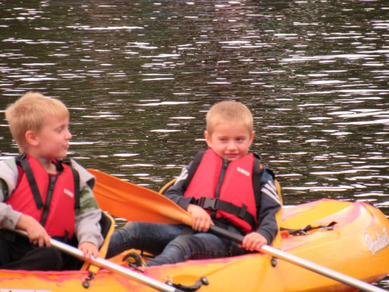 Children Canoeing at CCAA weekend