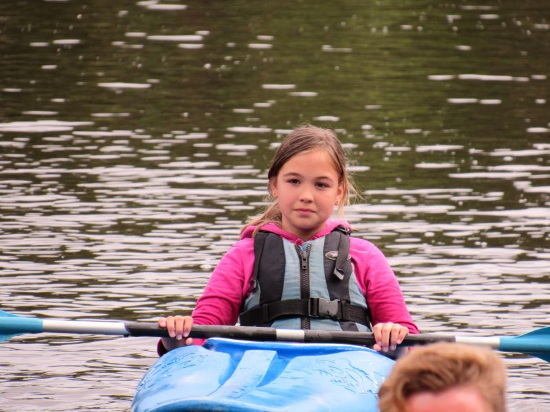 Child Canoeing at CCAA weekend